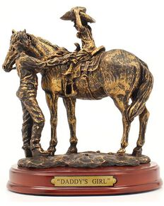 """Western Moments """"Daddy's Girl"""" Statue, Brown, hi-res"""