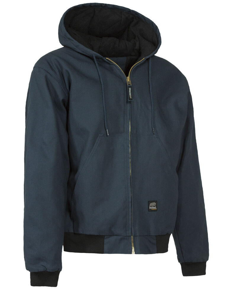 Berne Original Hooded Jacket - 5XT and 6XT, Navy, hi-res