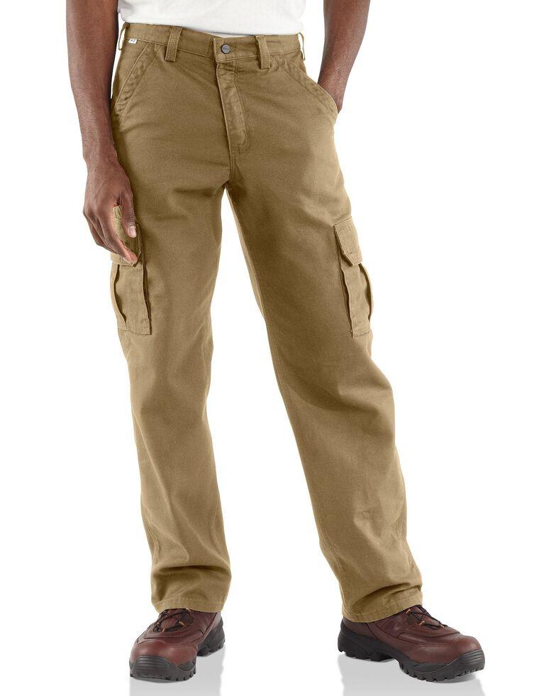 Carhartt Flame Resistant Canvas Cargo Pants - Big & Tall, Khaki, hi-res