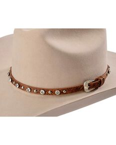 690bd7693f5 Faux Leather Rhinestone   Studded Hat Band