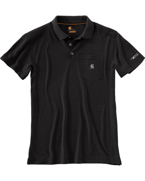 Carhartt Men's Force Extremes Pocket Polo , Black, hi-res