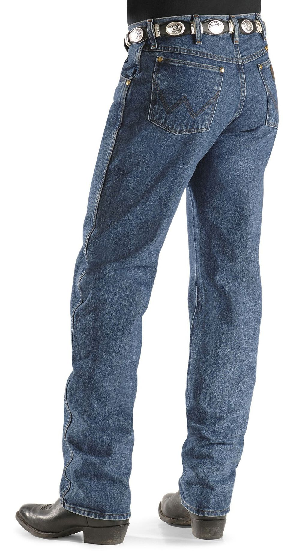 Wrangler 47MWZ Premium Performance Cowboy Cut Regular Fit Prewashed Jeans, Dark Stone, hi-res