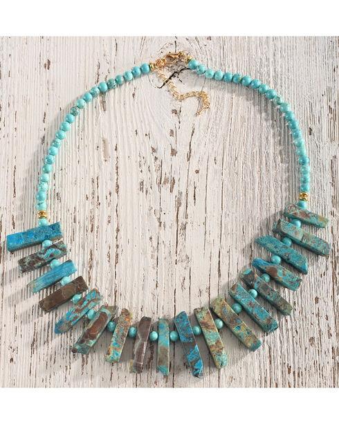 Gemelli Women's Saltado Necklace, Turquoise, hi-res