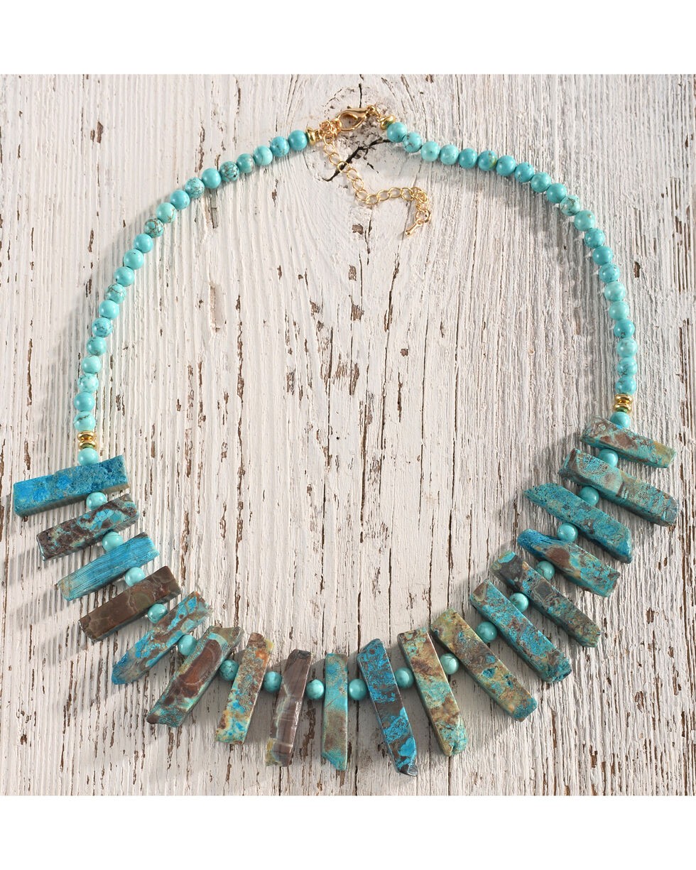 Gemelli Women's Saltado Necklace, Turquoise, hi-res