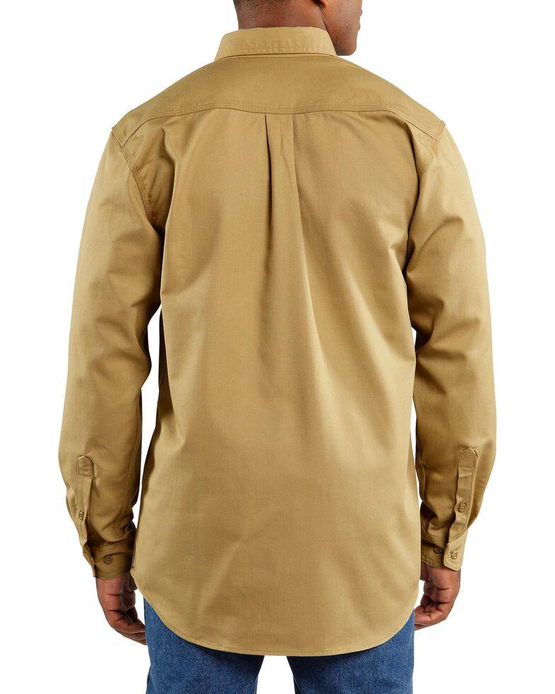 Carhartt Flame Resistant Two-Pocket Work Shirt, Khaki, hi-res