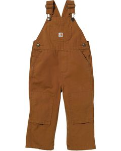 Carhartt Toddlers' Cotton Duck Overalls - 2T-4T, Duck Brown, hi-res