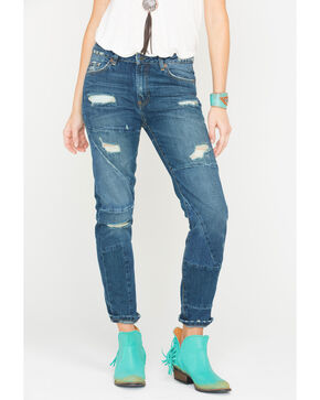 MM Vintage Women's Eve Boyfriend Straight Jeans , Indigo, hi-res