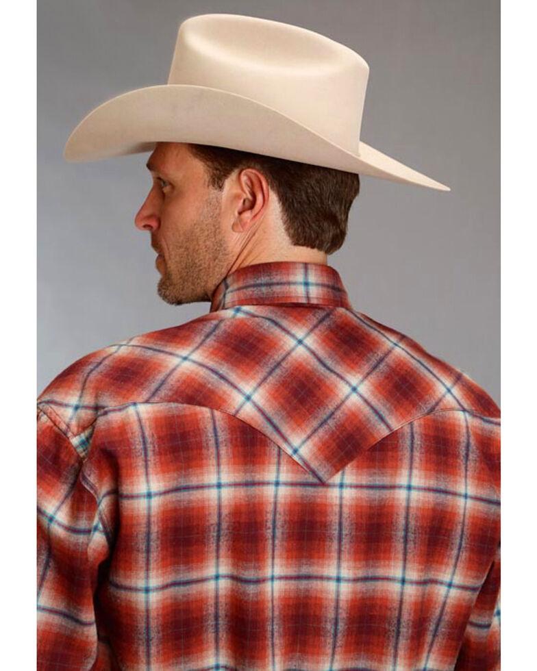Stetson Men's Original Rugged Paprika Plaid Flannel Western Shirt , , hi-res