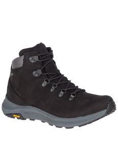 Merrell Men's Black Ontario Waterproof Hiking Boots - Soft Toe, Black, hi-res