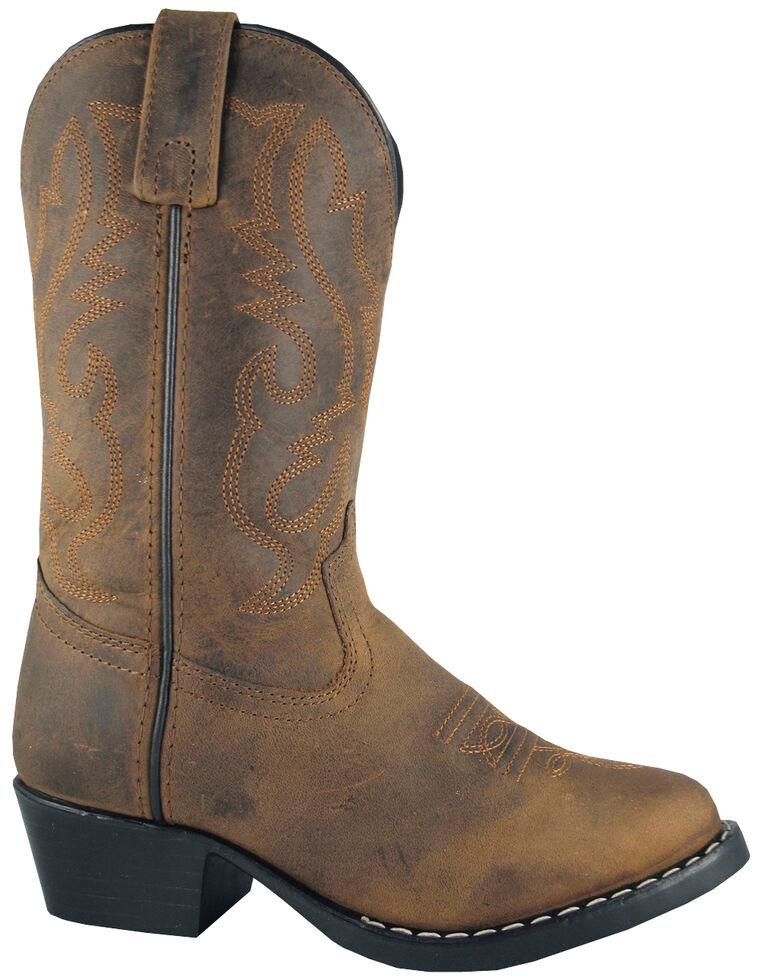 Smoky Mountain Boys' Denver Western Boots - Round Toe, Brown, hi-res