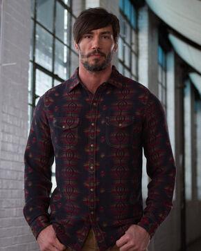 Ryan Michael Men's Black Sunburst Jacquard Shirt, Black, hi-res