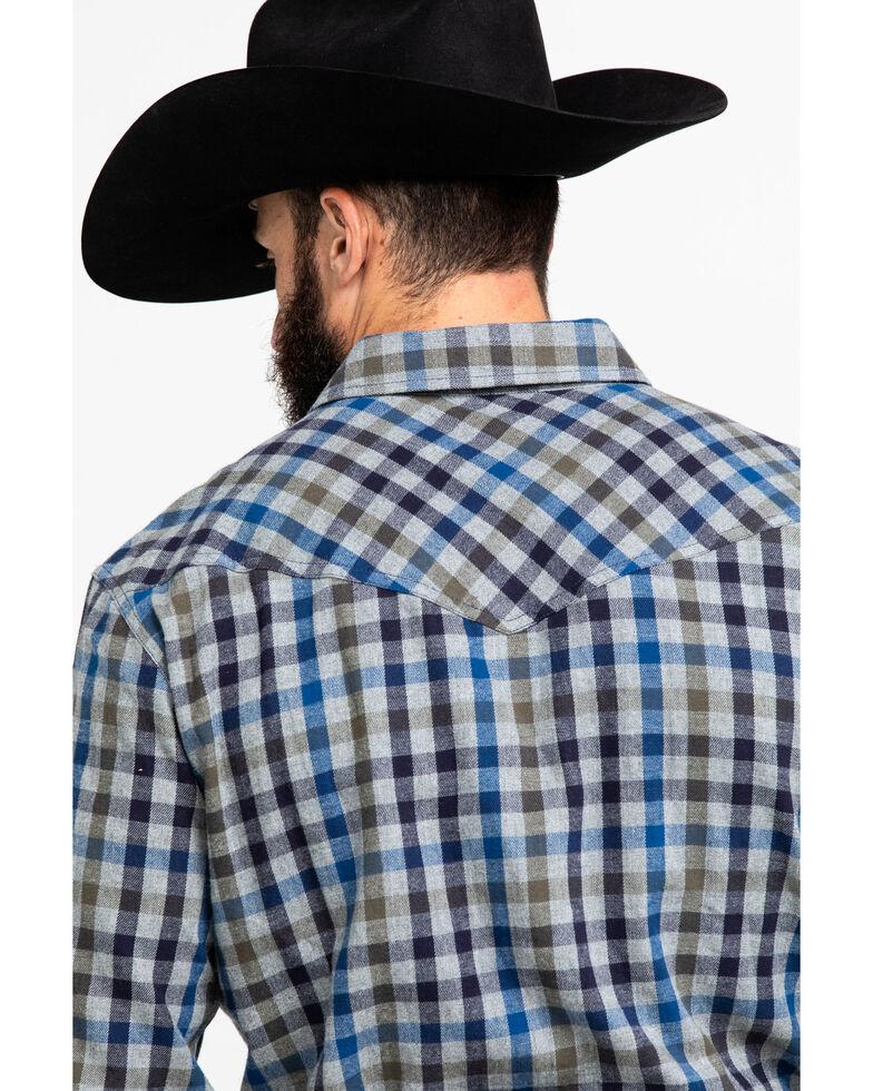 Cody James Men's Range Finder Plaid Long Sleeve Western Flannel Shirt , Grey, hi-res
