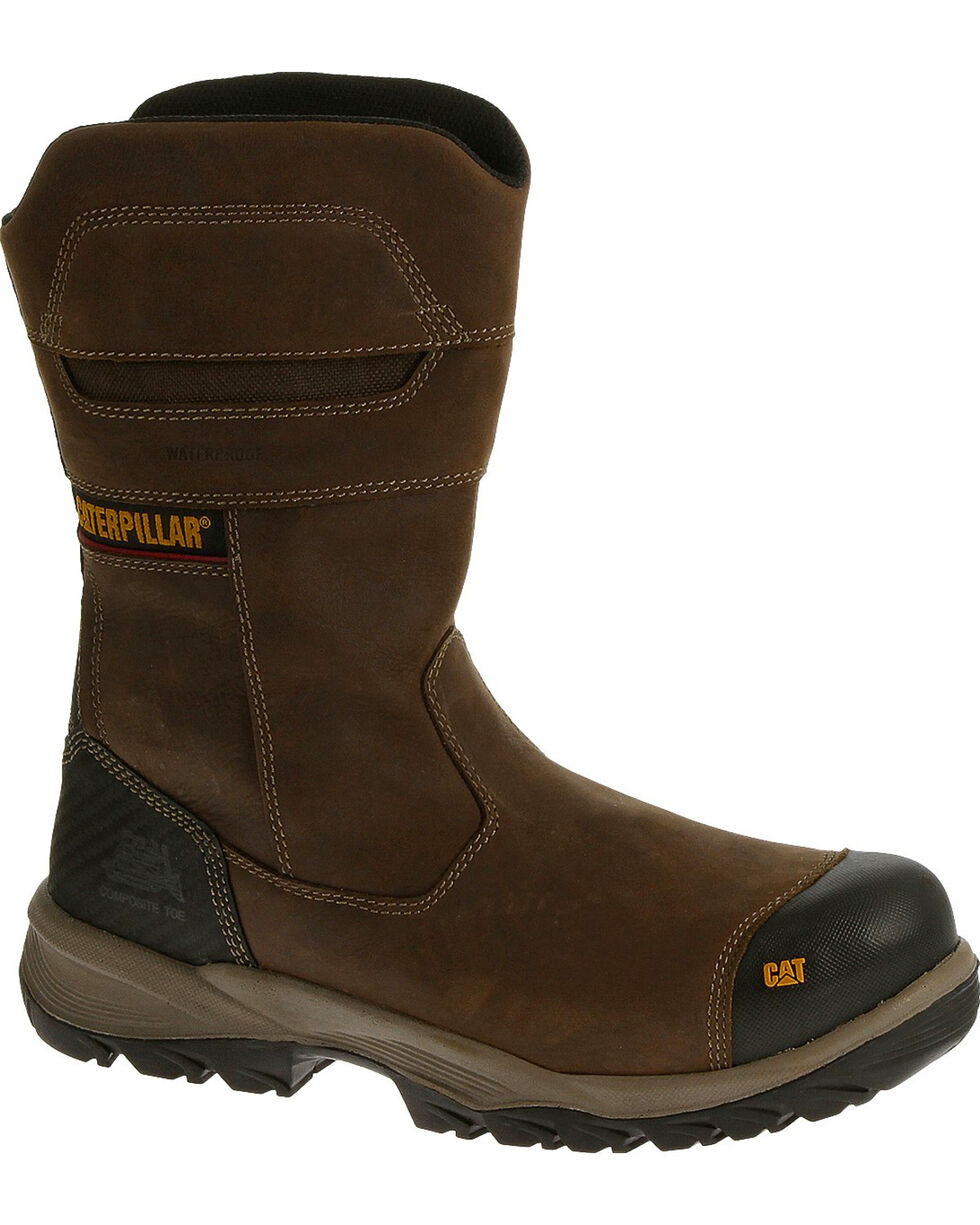Caterpillar Men's Jenka Waterproof Work Boots - Composite Toe , Grey, hi-res
