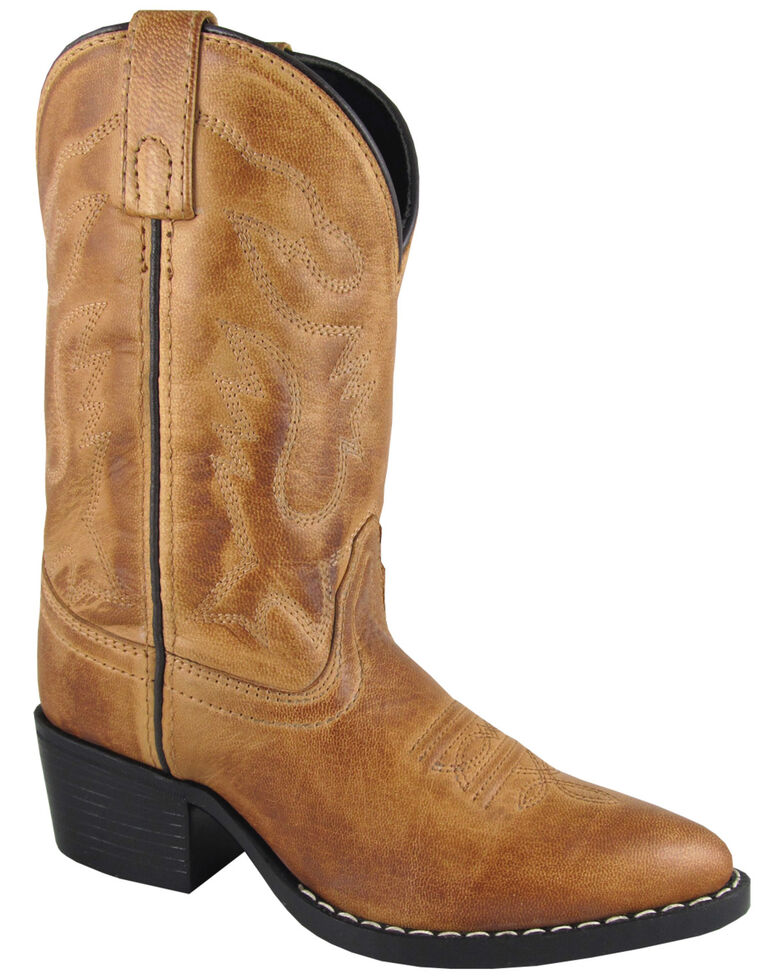 Smoky Mountain Youth Boys' Dakota Western Boots - Medium Toe, Tan, hi-res
