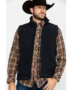 Cowboy Hardware Men's Barbed Poly Shell Vest , Black, hi-res