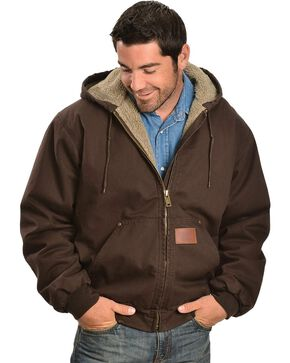 Exclusive Gibson Trading Co. Sherpa Lined Canvas Work Jacket, Chocolate, hi-res