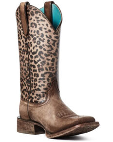 Ariat Women's Circuit Savannah Western Boots - Wide Square Toe, Brown, hi-res