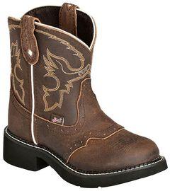 Justin Girls' Aged Bark Gypsy Cowboy Boots, Aged Bark, hi-res
