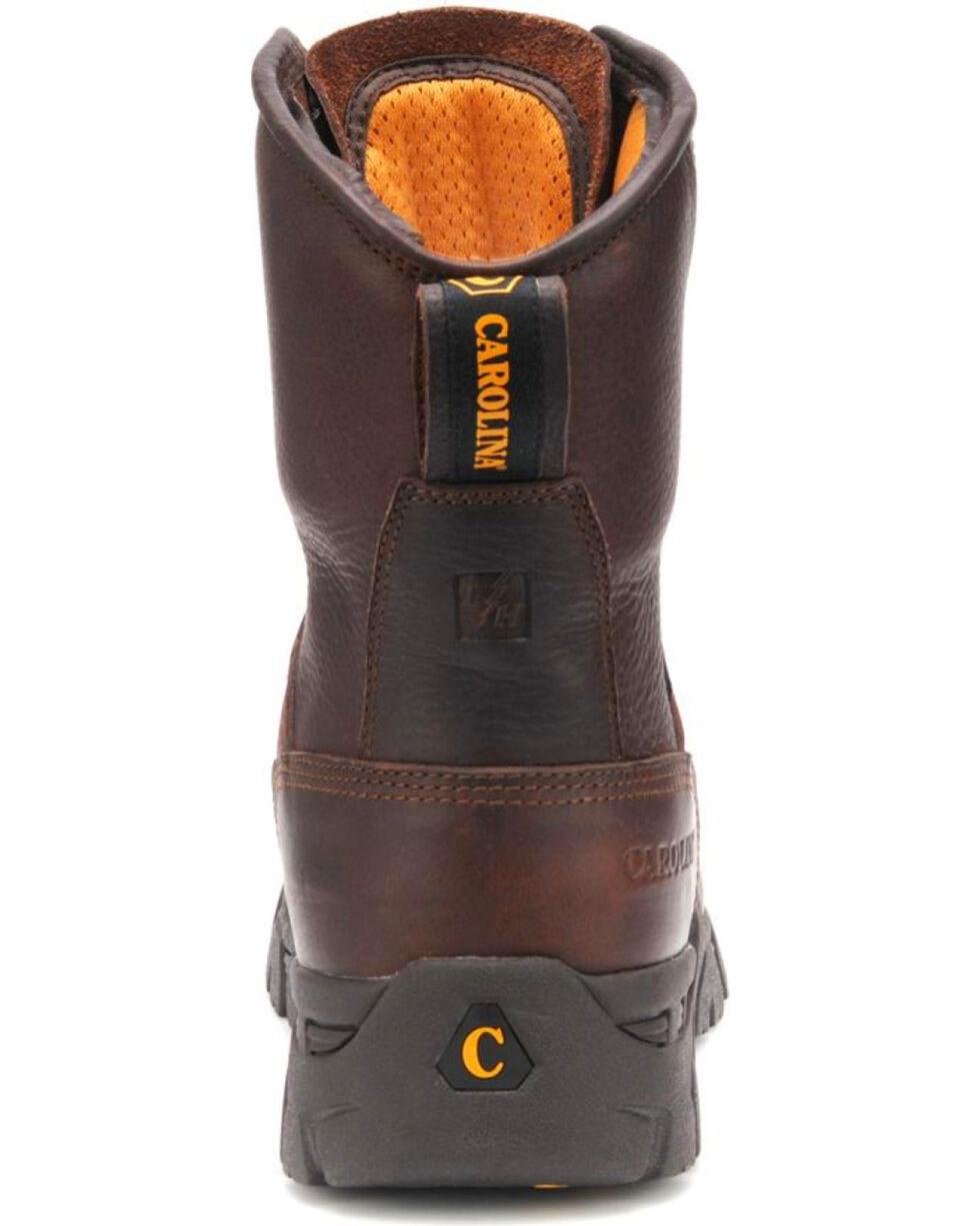 "Carolina Men's 8"" Waterproof Work Boots - Comp Toe, Dark Brown, hi-res"