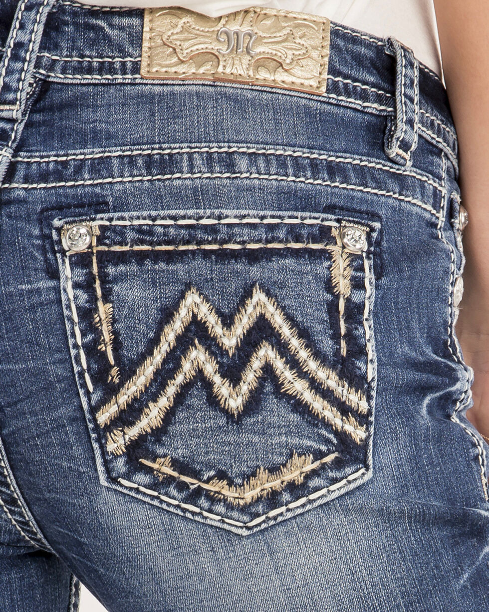 Miss Me Women's MM Moves Mid-Rise Boot Cut Jeans, Indigo, hi-res