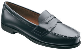 Eastland Women's Blue Classic II Penny Loafer , Navy, hi-res