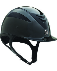One K Defender Glossy Helmet, Black, hi-res