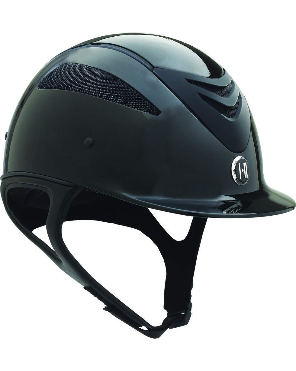 One K Defender Glossy Helmet, Black, hi-res