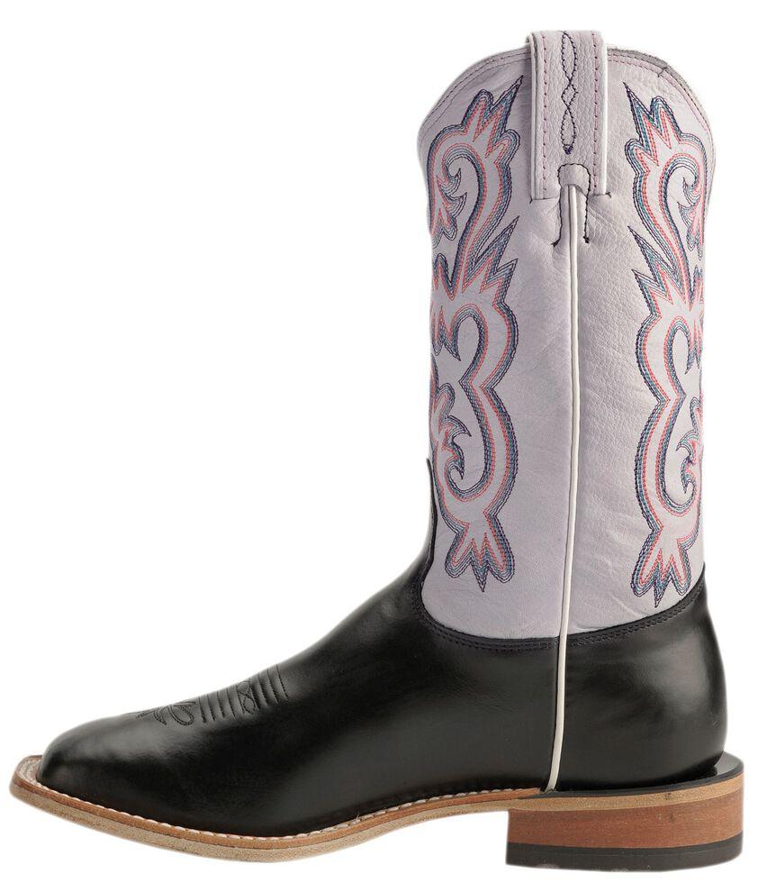 Tony Lama Americana Cowgirl Boots - Square Toe, Black, hi-res