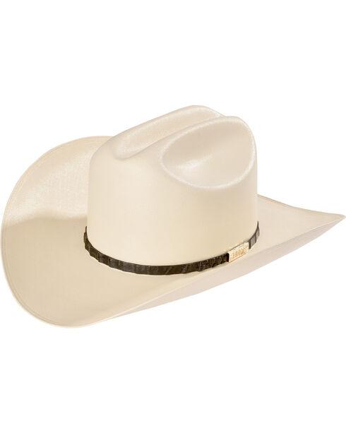 Larry Mahan Men's 100X Cien Ivory Woven Cowboy Hat, Black, hi-res