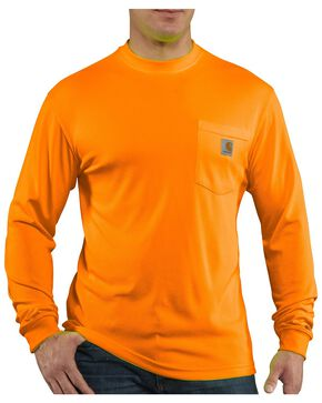 Carhartt Force Color-Enhanced Long Sleeve T-Shirt, Orange, hi-res