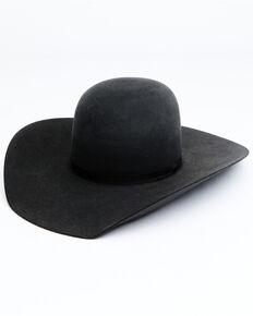 Rodeo King 7X Black Pen Crown Western Felt Hat , Black, hi-res