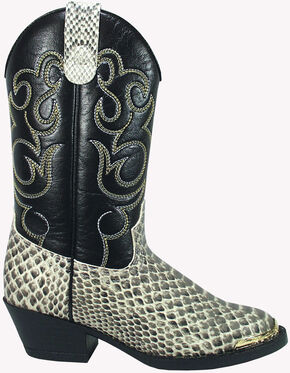 Smoky Mountain Youth Boys' Laramie Python Print Western Boots - Square Toe, Snake Print, hi-res