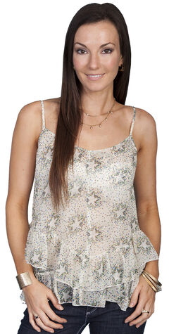 Scully Women's Dazzling Star Cami Top, Natural, hi-res