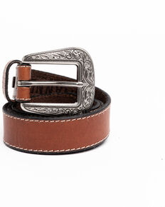 Shyanne Women's Brown Skinny Basic Western Belt , Brown, hi-res