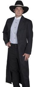 WahMaker by Scully Long Ruffle Frock Coat, Black, hi-res