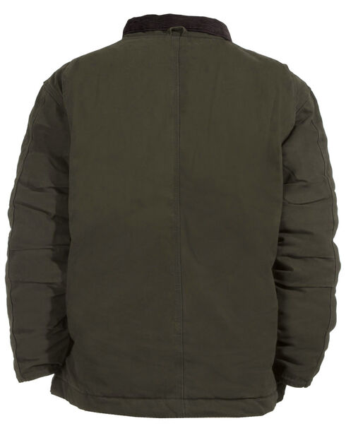 Berne Bark Original Washed Chore Coat, Olive Green, hi-res