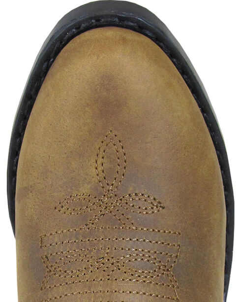 Smoky Mountain Boys' Tonto Western Boot - Round Toe, Brown, hi-res