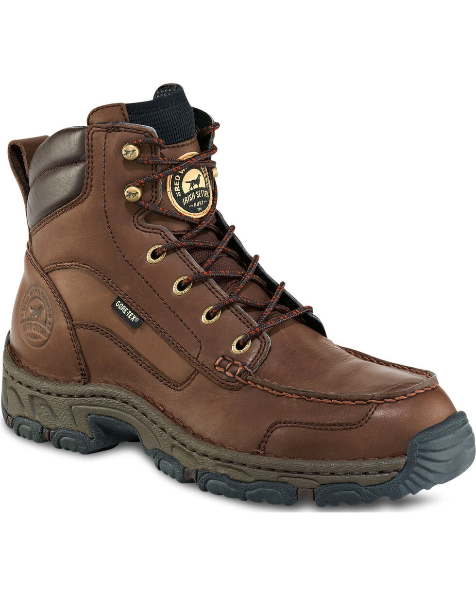 """Irish Setter by Red Wing Shoes Men's Havoc 7"""" Work Boots - Moc Toe, Brown, hi-res"""