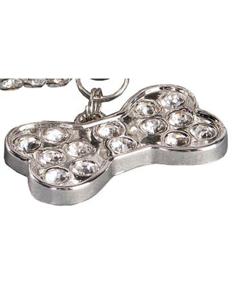 Blazin Roxx Rhinestone Dog Collar - S-XL, Silver, hi-res