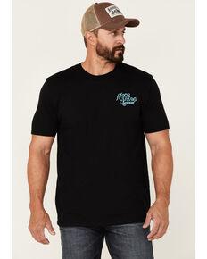 Moonshine Spirit Men's Angry Eagle Back Graphic Short Sleeve T-Shirt , Black, hi-res
