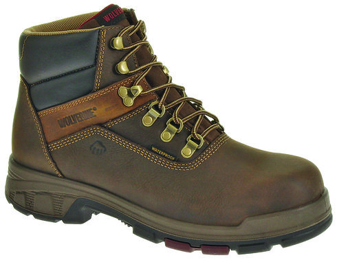 """Wolverine Cabor EPX PC Dry Waterproof 6"""" Boots, Coffee, hi-res"""