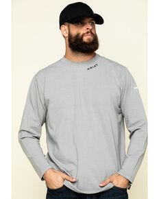 Ariat Men's Navy FR Base Layer Long Sleeve Work T-Shirt - Big & Tall , Navy, hi-res