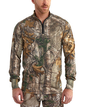Carhartt Men's Camo Base Force Extremes Cold Weather Quarter-Zip Pullover - Big, Camouflage, hi-res