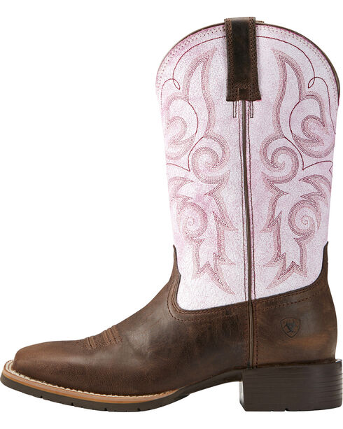 Ariat Women's Hybrid Rancher Cowgirl Boots - Square Toe, Dark Brown, hi-res