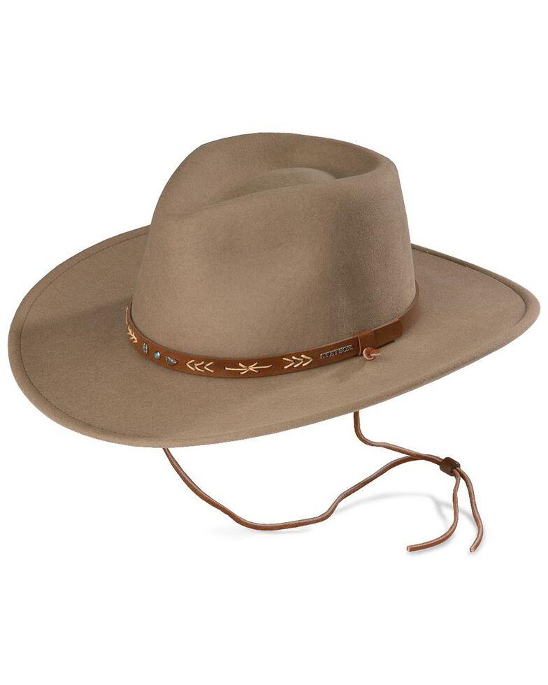 Stetson Santa Fe Crushable Wool Felt Hat, Mushroom, hi-res