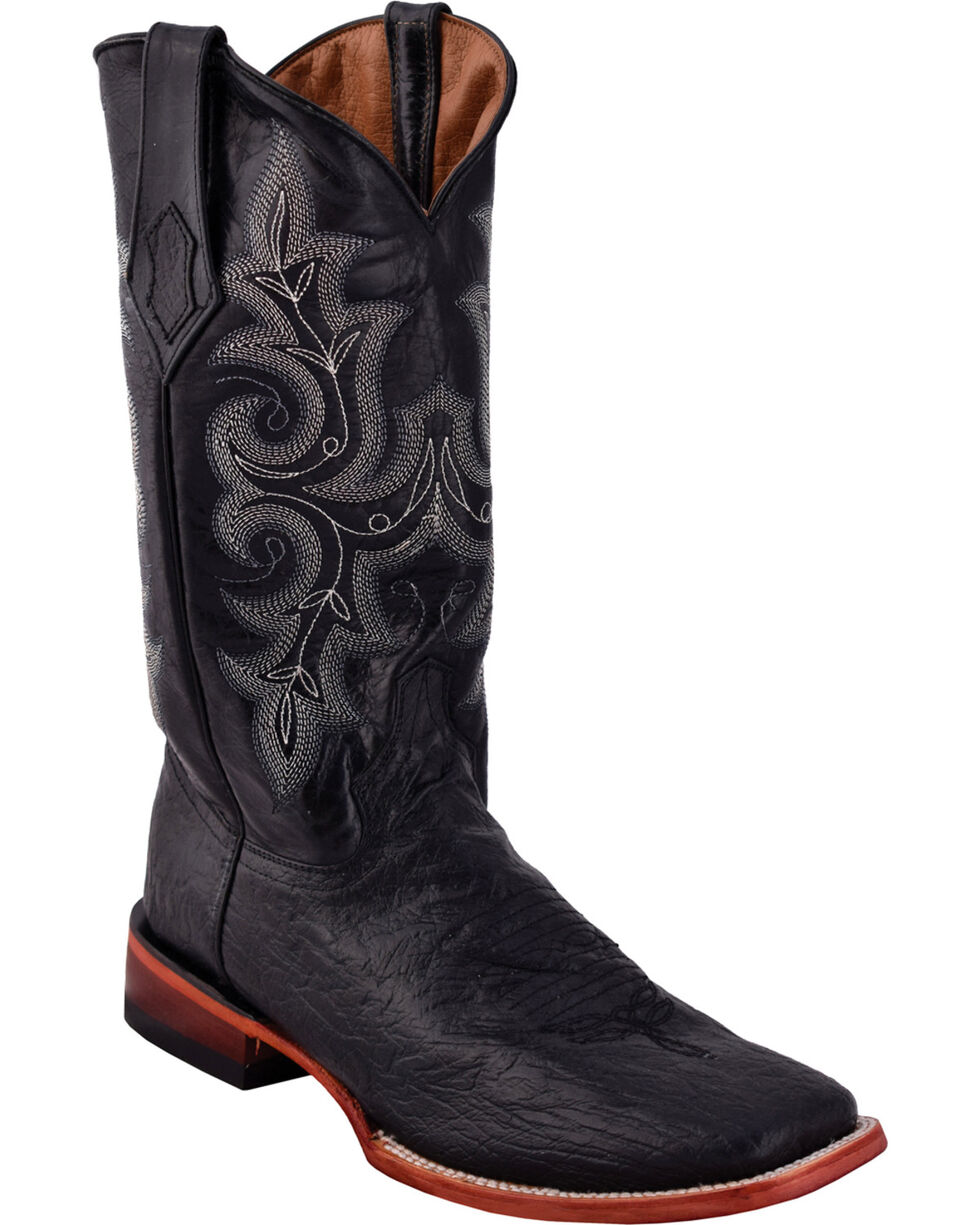 Ferrini Men's Acero Black Cowboy Boots - Square Toe, Black, hi-res