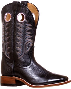 Boulet Women's Challenger Sporty Black Cowgirl Boots - Square Toe, Black, hi-res