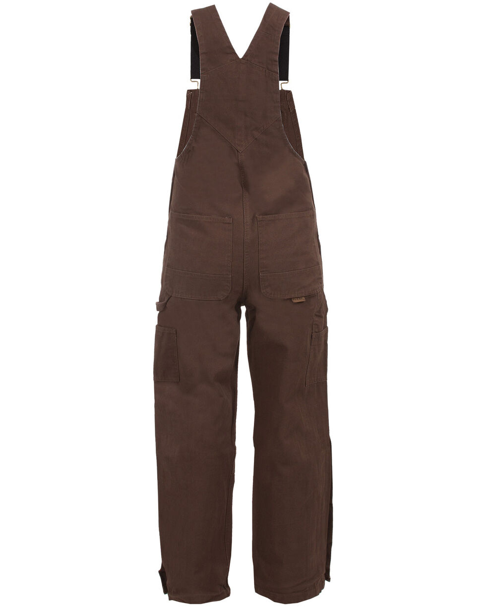Berne Unlined Washed Duck Bib Overalls - Tall, Bark, hi-res