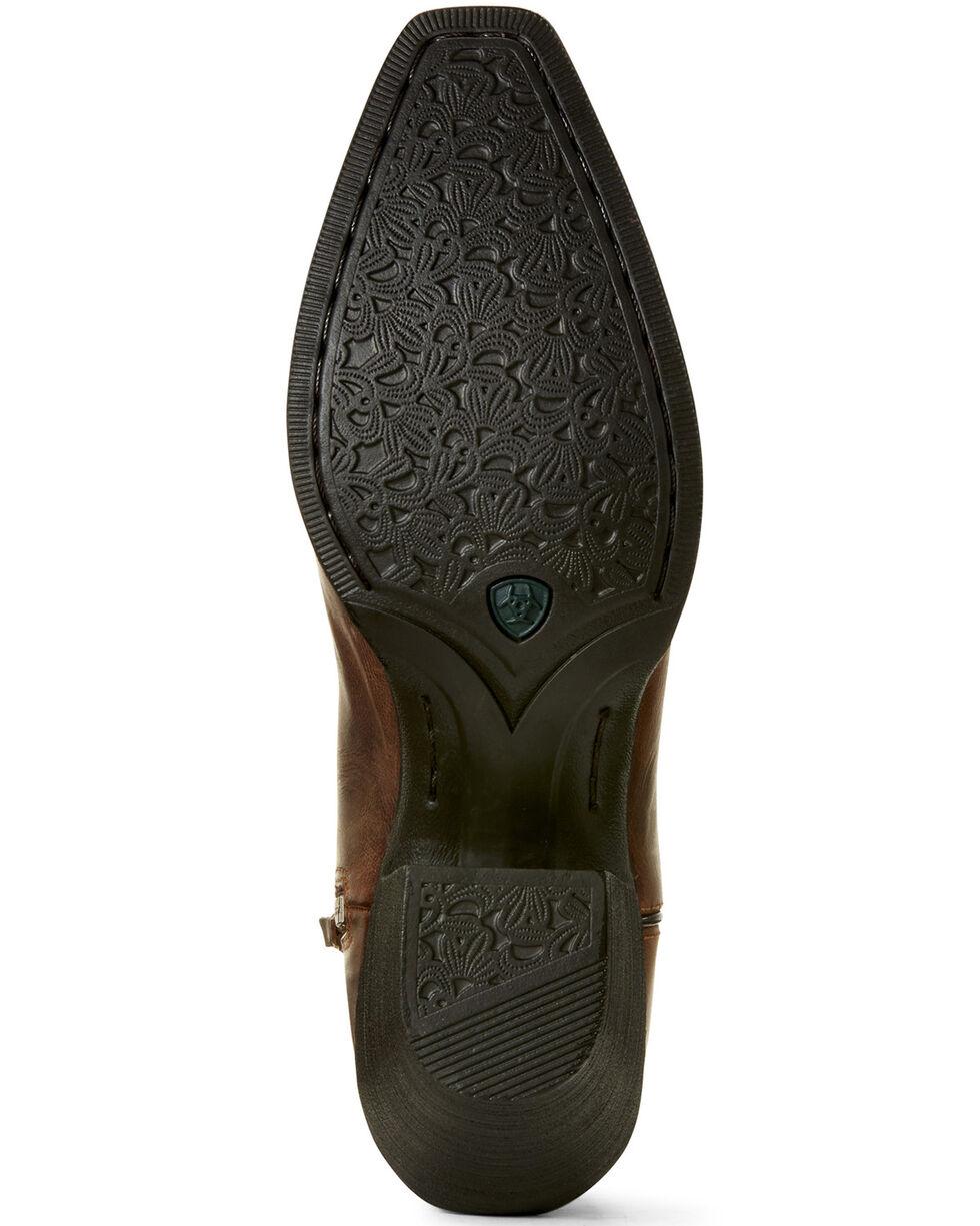 Ariat Women's Lovely Sassy Western Booties - Snip Toe, Brown, hi-res
