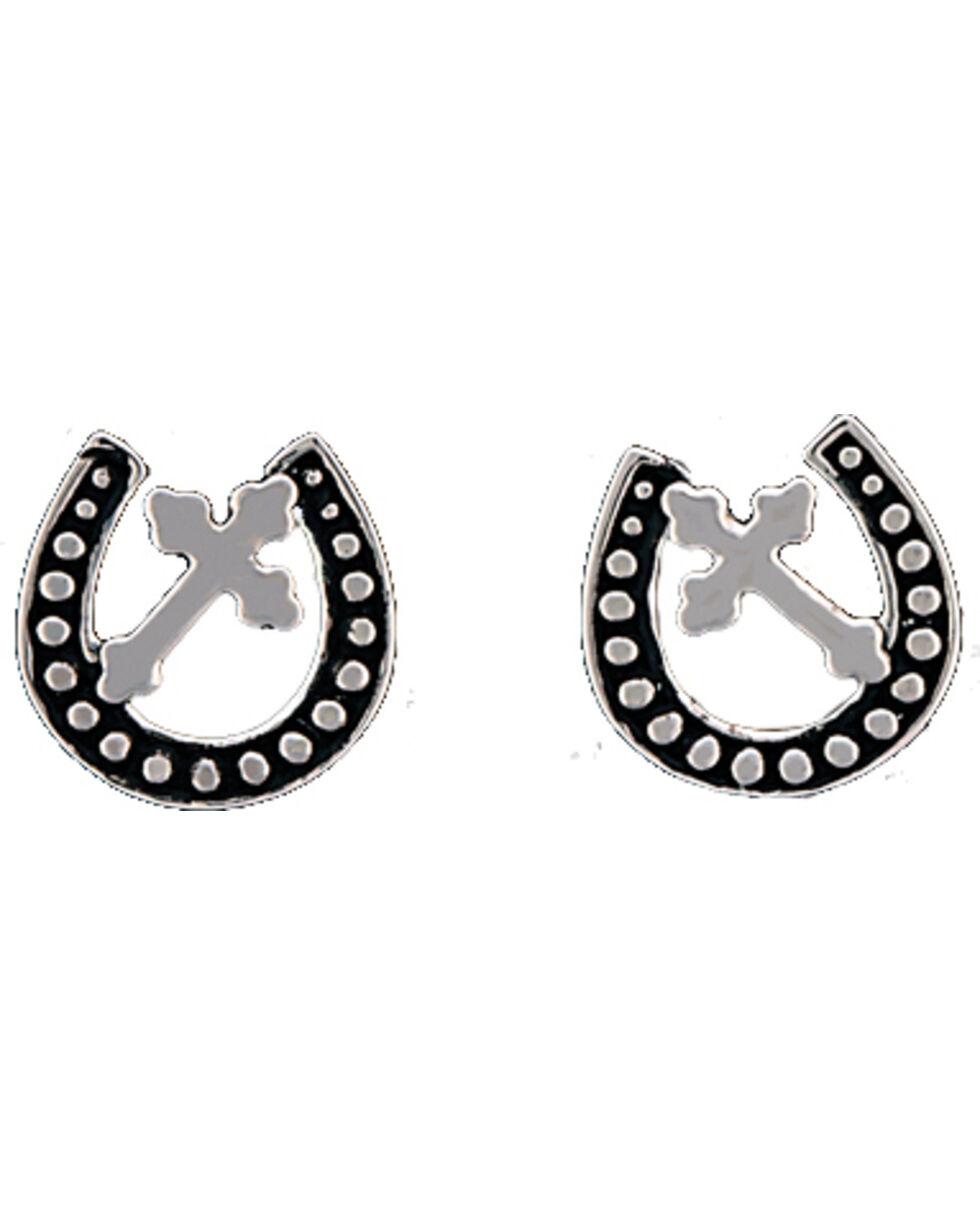 Montana Silversmiths Women's Walking God's Path Post Earrings , Silver, hi-res